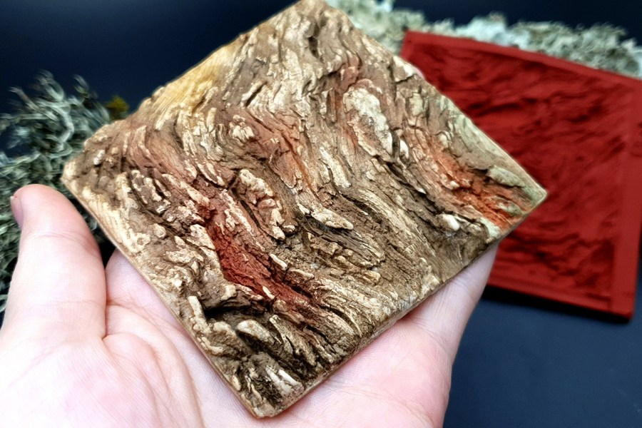 Silicone Texture Drift Wood #2 - 95x90mm 4