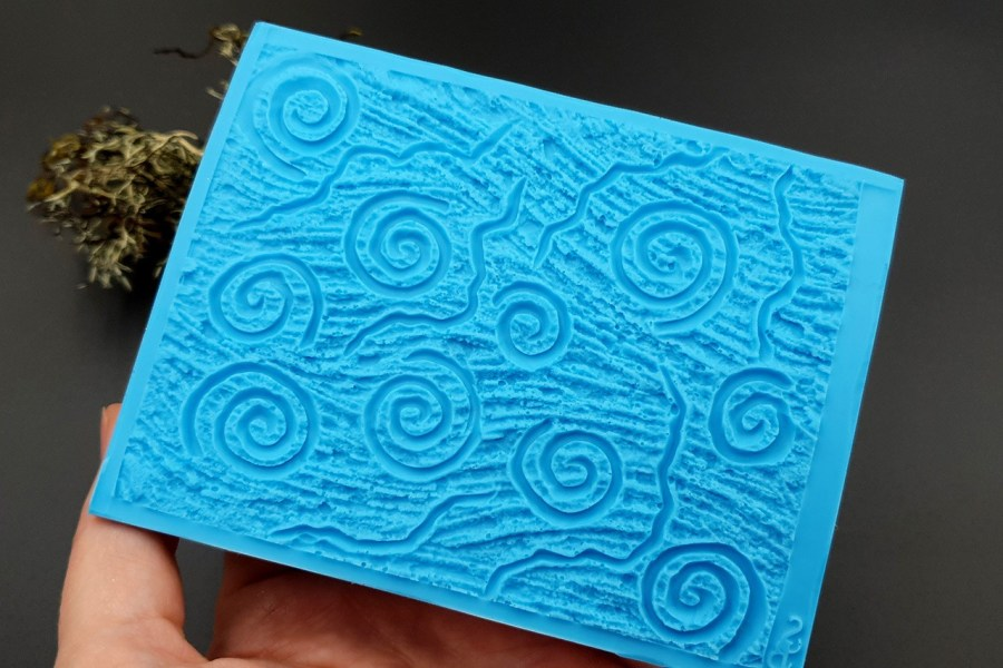 Silicone Texture Art Swirls - 111x85mm 7