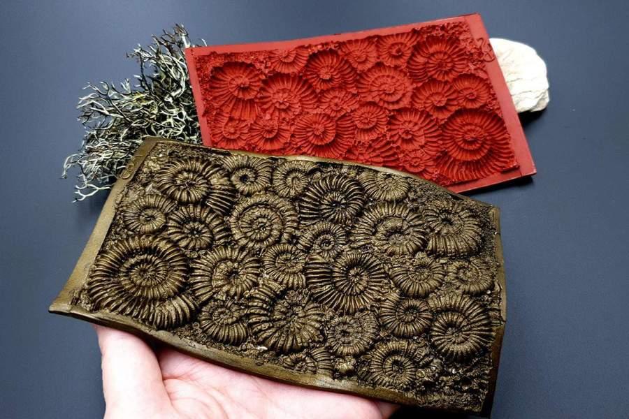 Silicone Texture Ammonites - 140x90mm 1