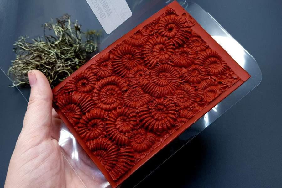 Silicone Texture Ammonites (Opposite) - 140x90mm 11