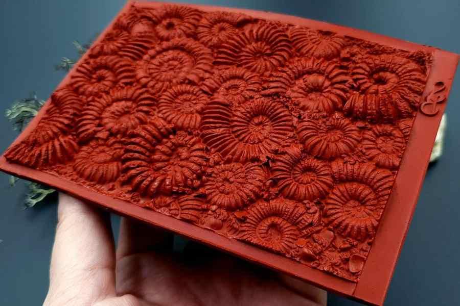 Silicone Texture Ammonites (Opposite) - 140x90mm 8