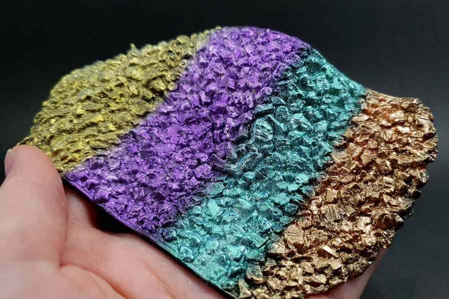 Silicone Texture Druzy Stone - 150x75mm 11