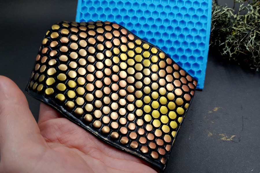 Silicone Texture Honeycomb (Opposite) - 111x80mm 10