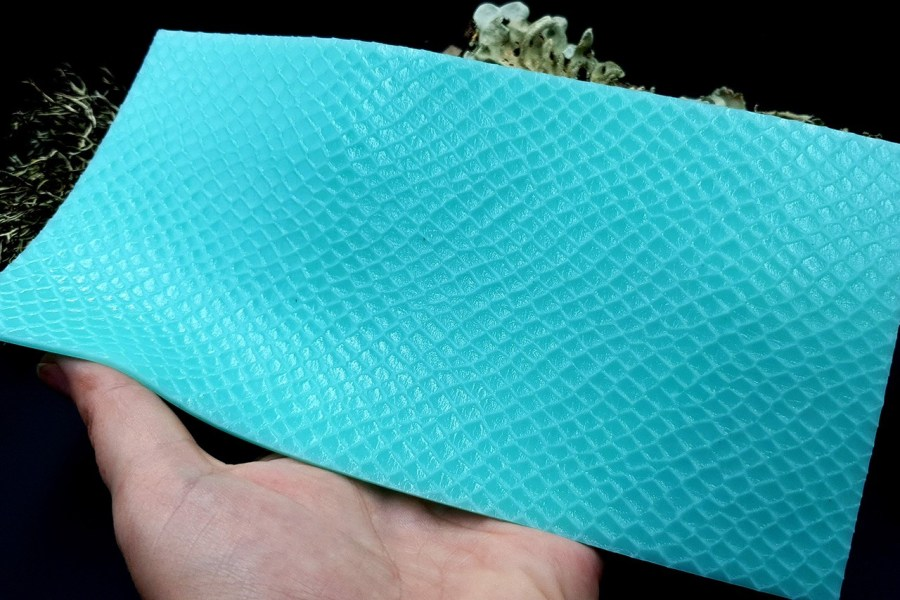 Silicone Texture Snake Skin Leather - 190x100mm 8