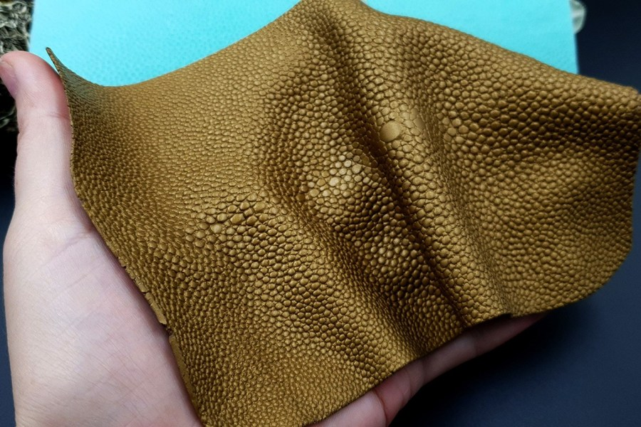 Silicone Texture Stingray Skin Leather - 180x115mm 8