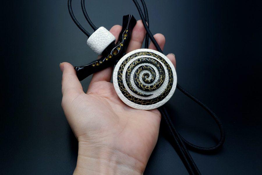 Yin-Yang Swirl Pendant - Cosmic Infinity 4