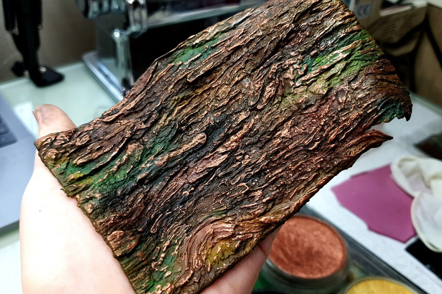 Silicone Texture Bark of Thai Pine Tree #1 - 135x90mm 17