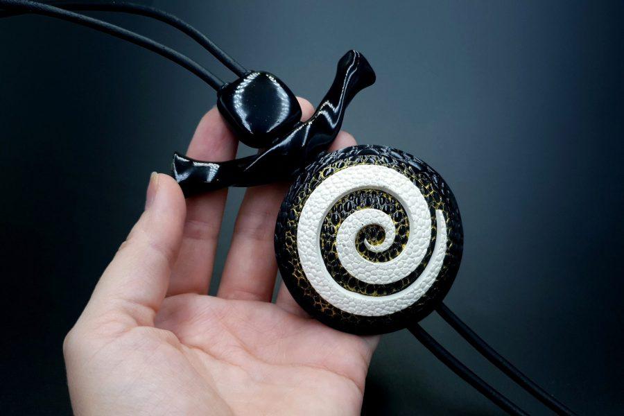 Yin-Yang Swirl Pendant - Cosmic Infinity