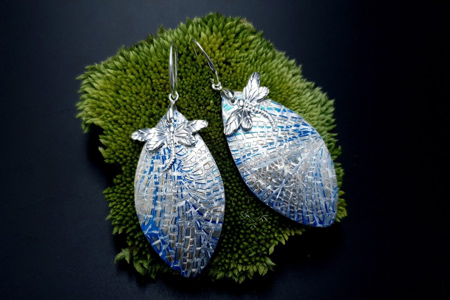 Earrings Dragonfly and Ice 3