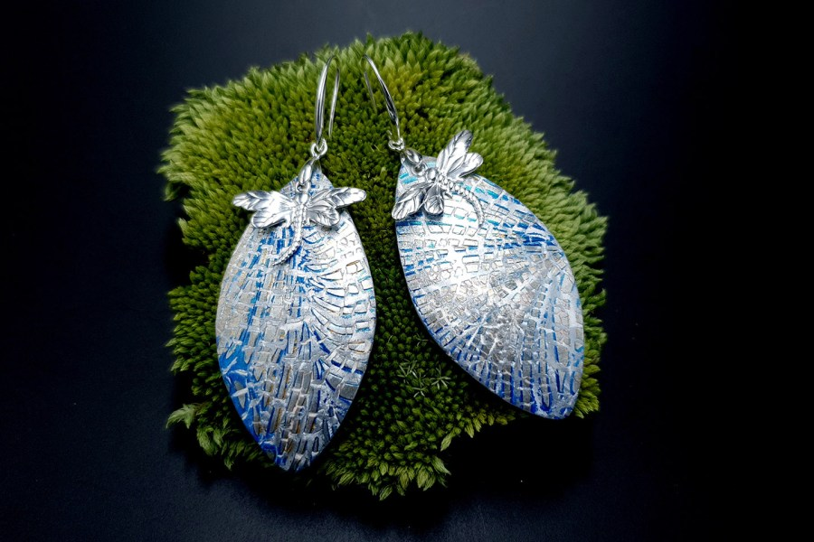Earrings Dragonfly and Ice 1