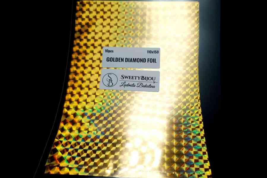 Golden Diamond Foil (10 pcs) 2