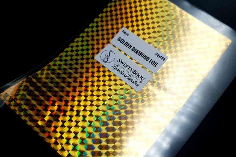 Golden Diamond Foil (10 pcs) 1