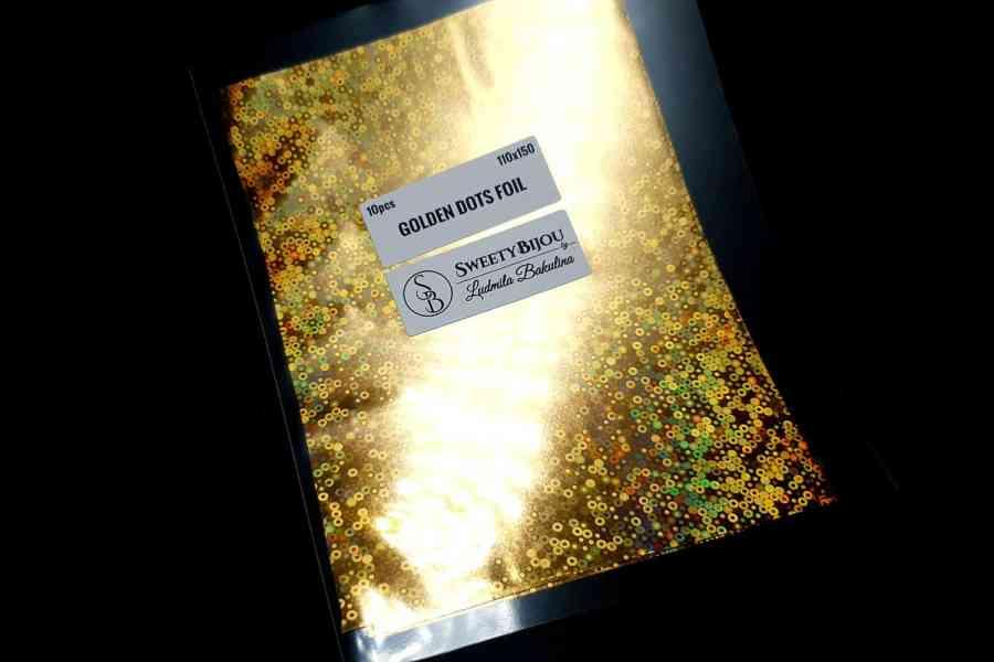 Golden Dots Foil (10 pcs) 3