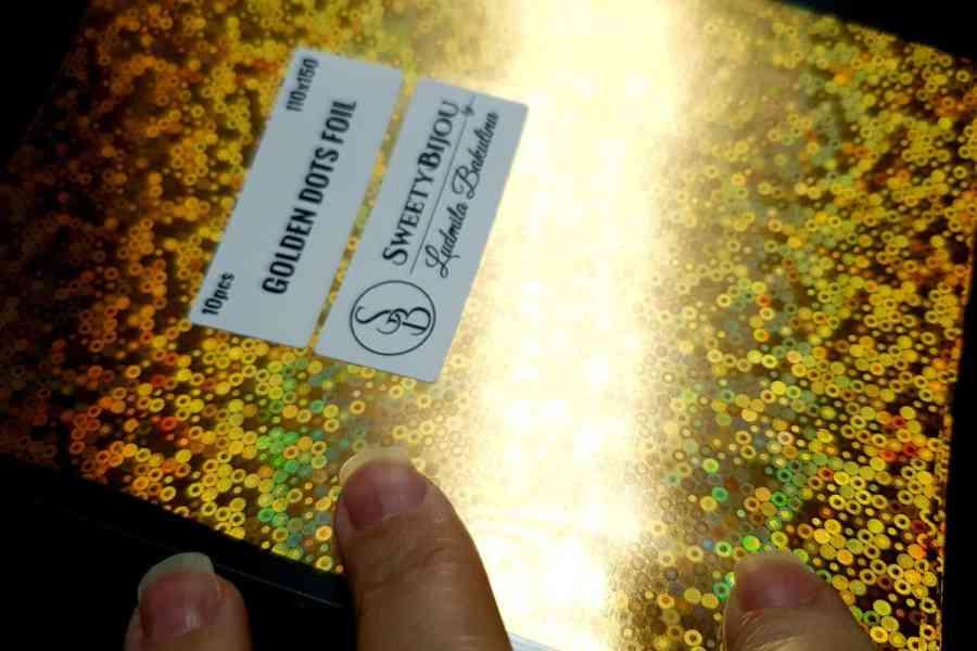 Golden Dots Foil (10 pcs)