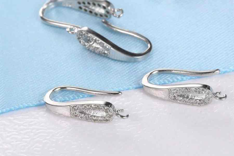 Crystal Earrings Findings - Elegant Drops - 2 pcs 2