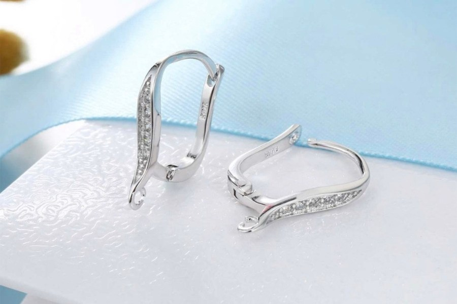 Crystals Elegant Style Earrings Findings 2 pcs 3