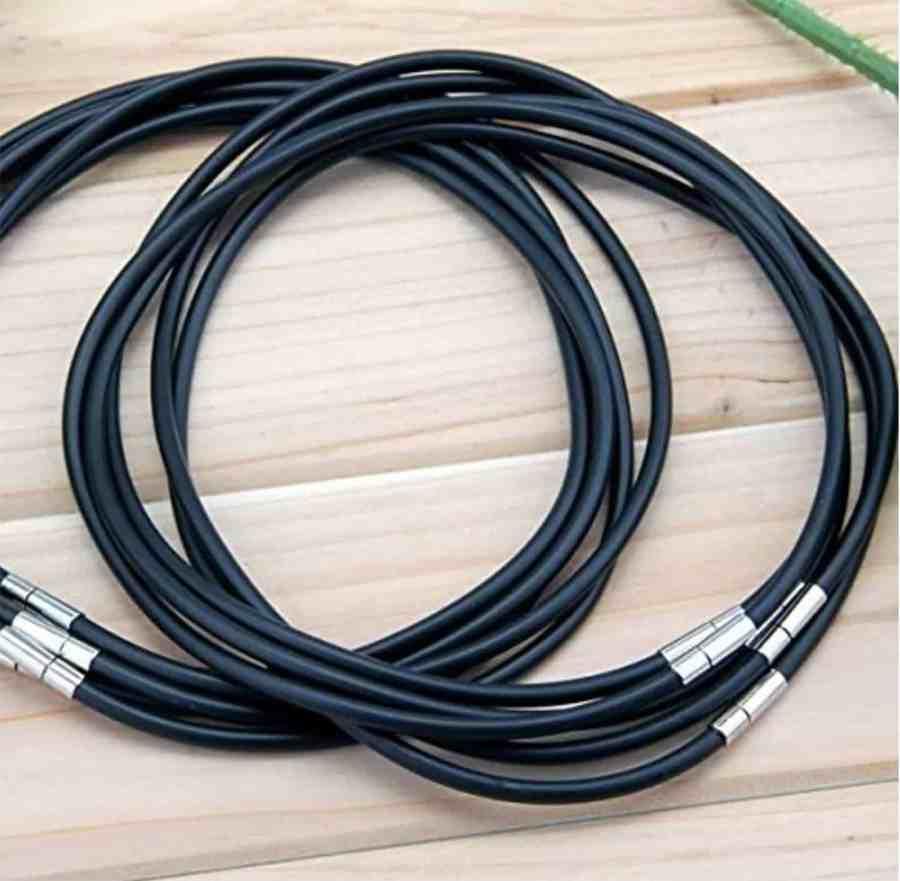 Set of 3 pcs Black Rubber Lace Choker Necklaces 10