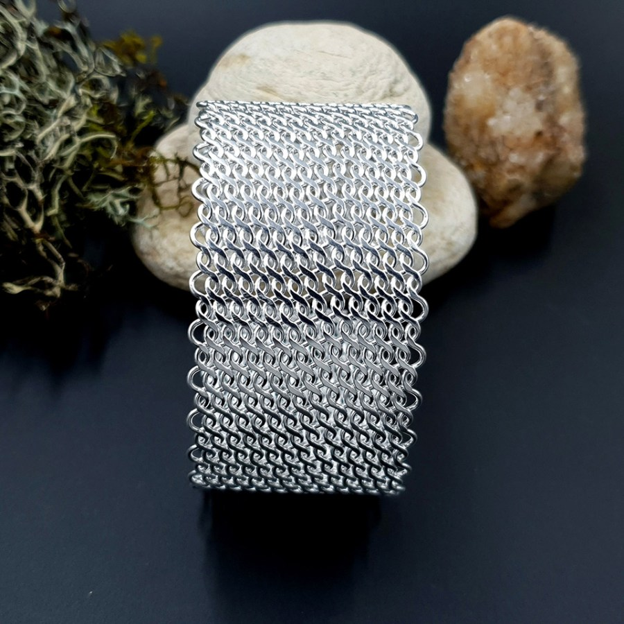 Metal silver color textured bracelets tool for baking 3