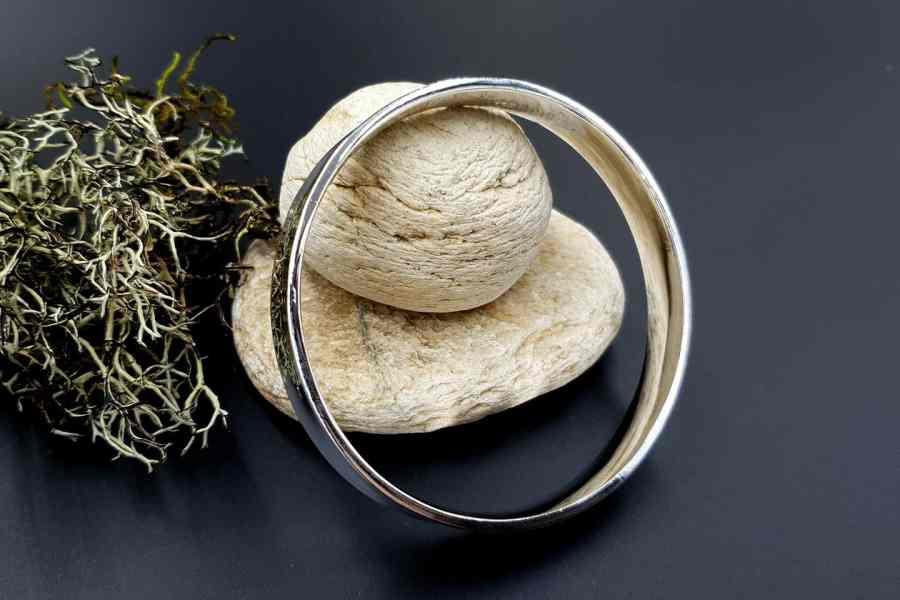 Metal silver color plated bangle base bracelet 5