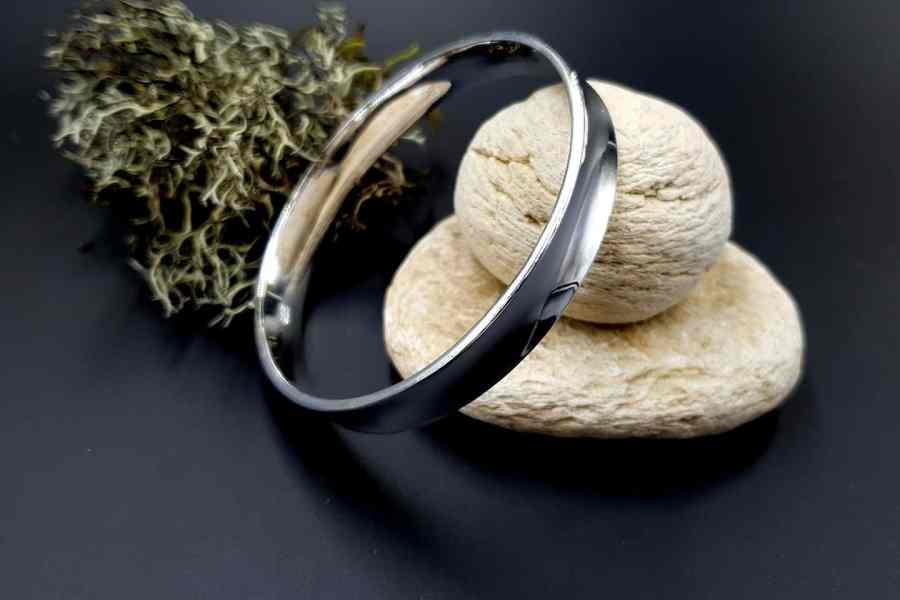 Metal silver color plated bangle base bracelet 2