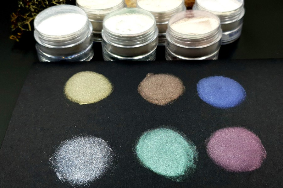 5 colors Chameleon powders + 1 Crystal White Pearl powder 4