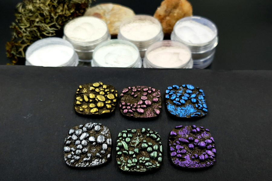 5 colors Chameleon powders + 1 Crystal White Pearl powder 5