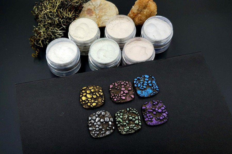 5 colors Chameleon powders + 1 Crystal White Pearl powder 8