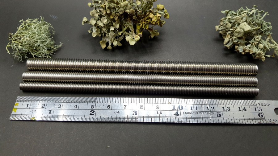 Set of 3 textured metal rod tool for polymer clay