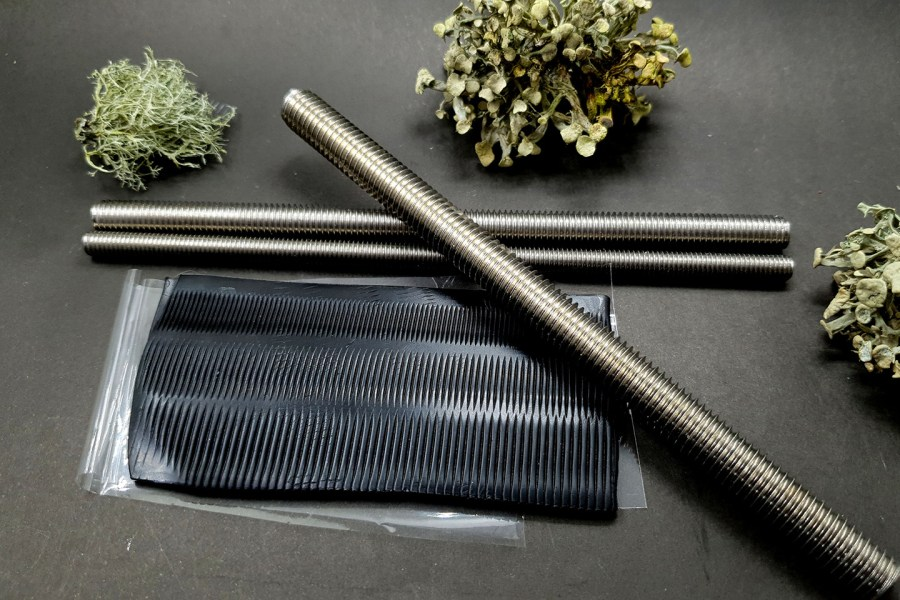 Set of 3 pcs textured metal rod tool for polymer clay 2