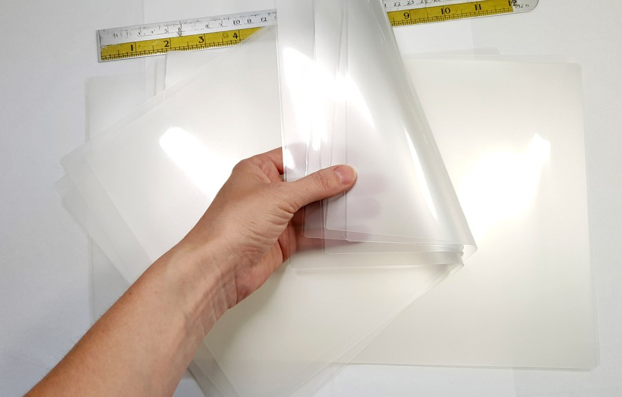 Thick Double Plastic Sheets (5Pcs) for Storage Polymer Clay Work 1