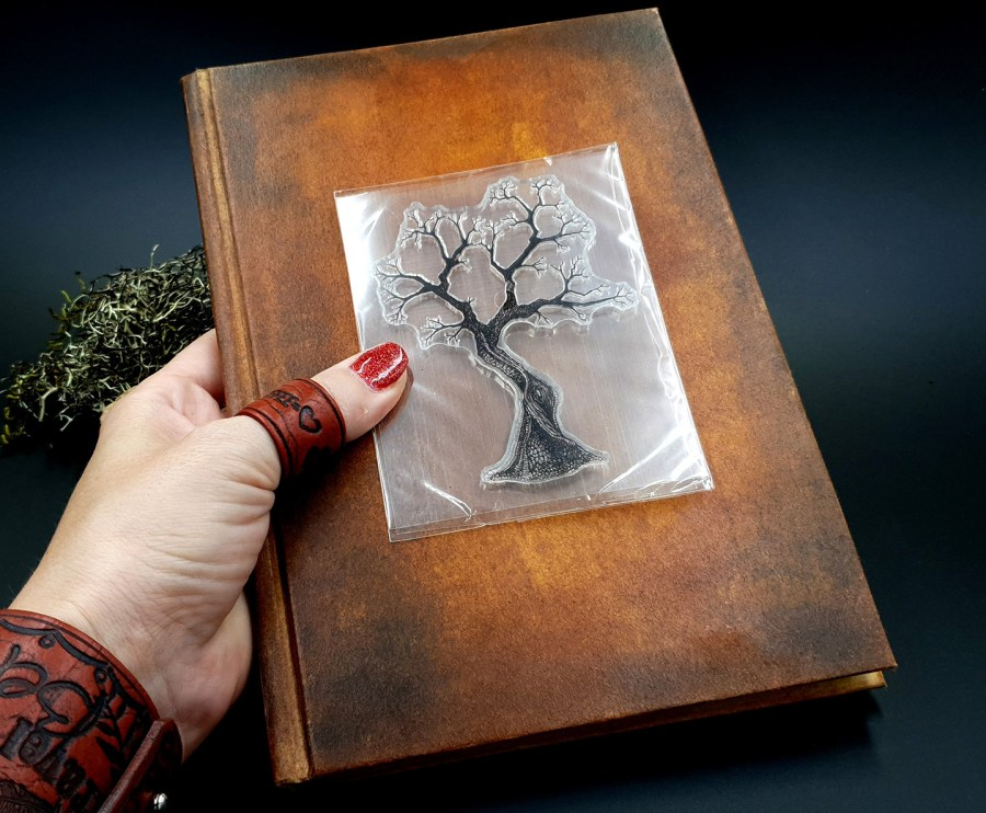 "Clear Silicone Stamp ""A Tree"" for Polymer Clay 4"
