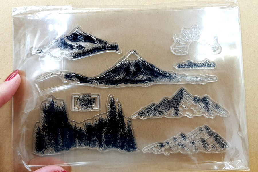 "Clear Silicone Stamp ""Forest"" 2"