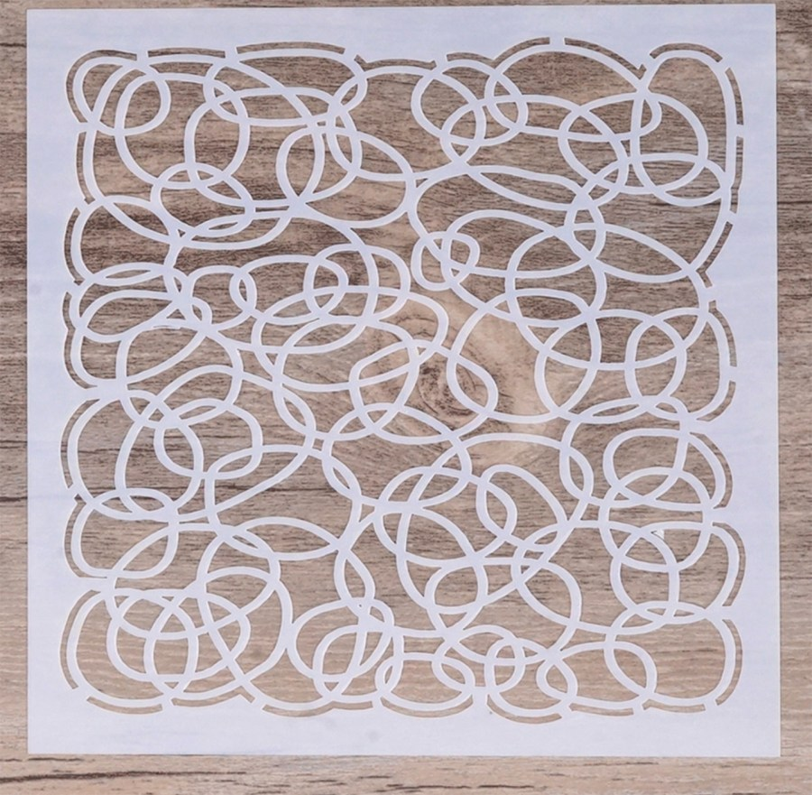 Circles - Background Stencil for Polymer Clay 4