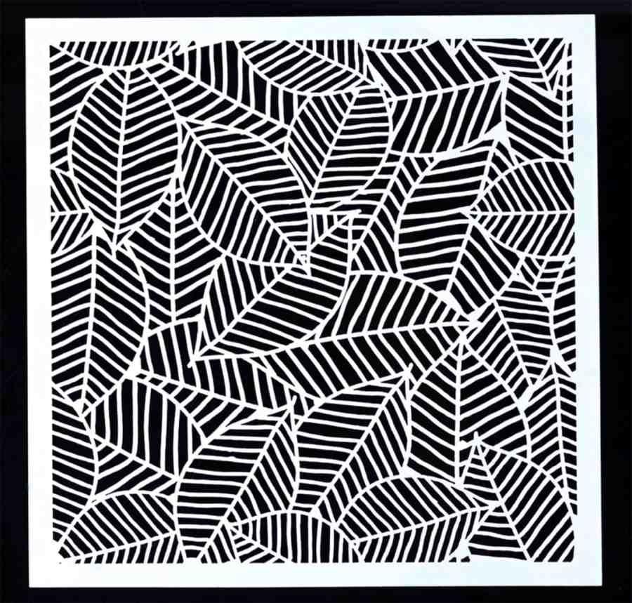 Leafs - Background Stencil for Polymer Clay