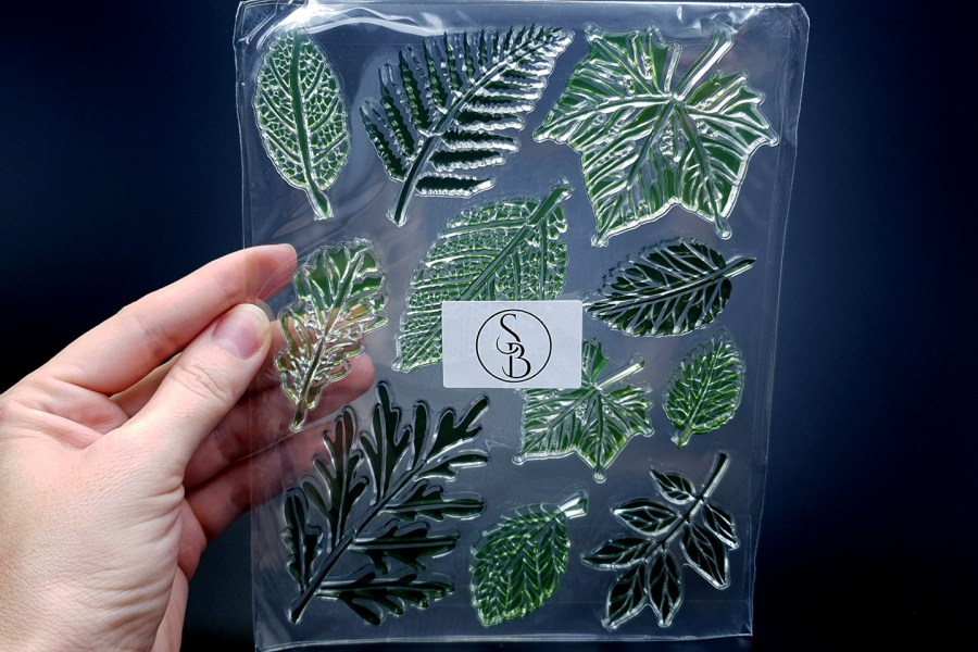 """Silicone Stamp """"Leafs"""" for Polymer Clay 1"""