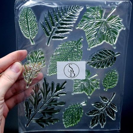 """Silicone Stamp """"Leafs"""" for Polymer Clay"""