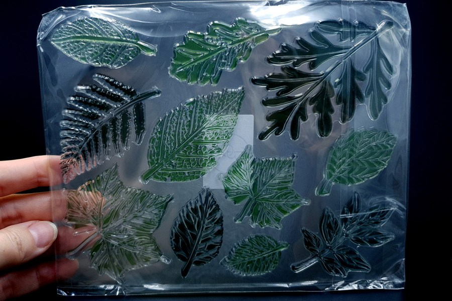 """Silicone Stamp """"Leafs"""" for Polymer Clay 3"""