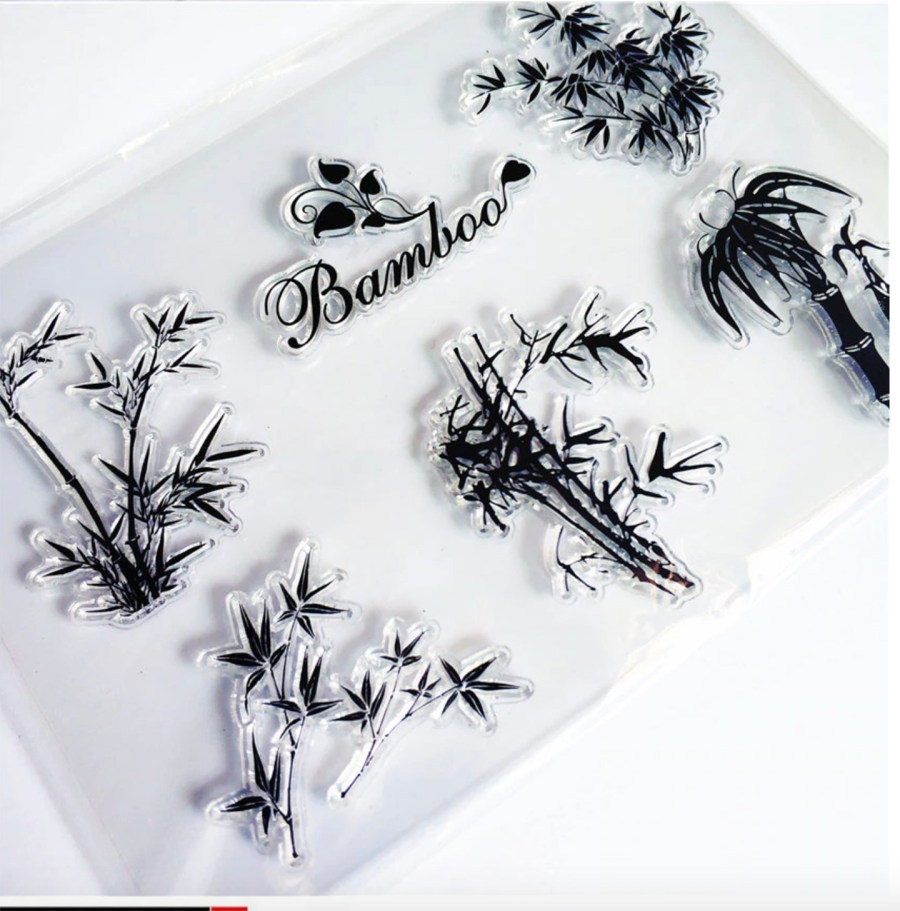 "Clear Silicone Stamp ""Bamboo"" 6"