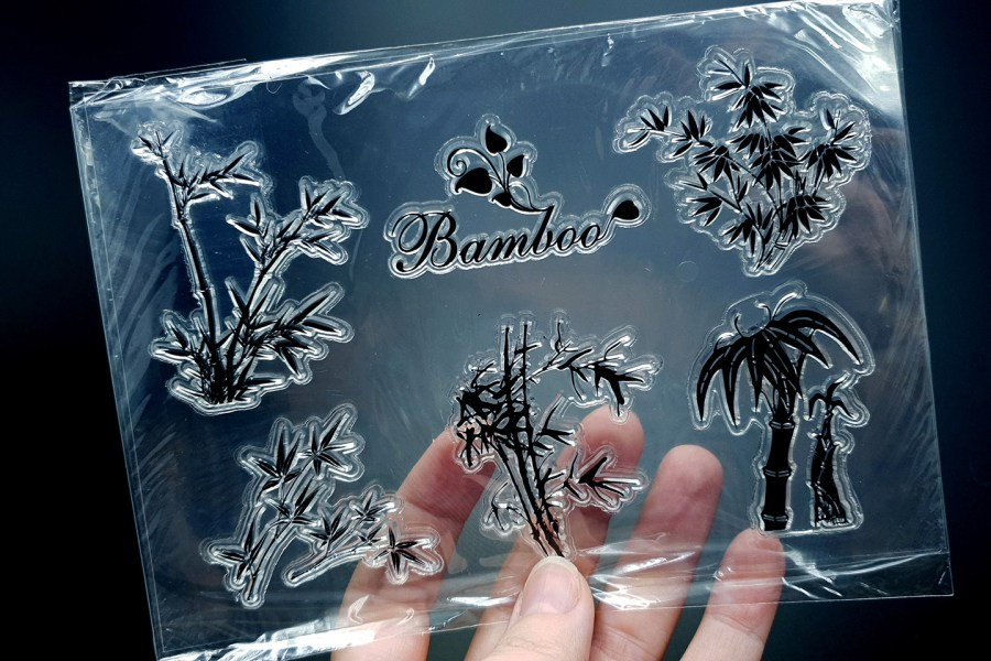 "Clear Silicone Stamp ""Bamboo"" 1"