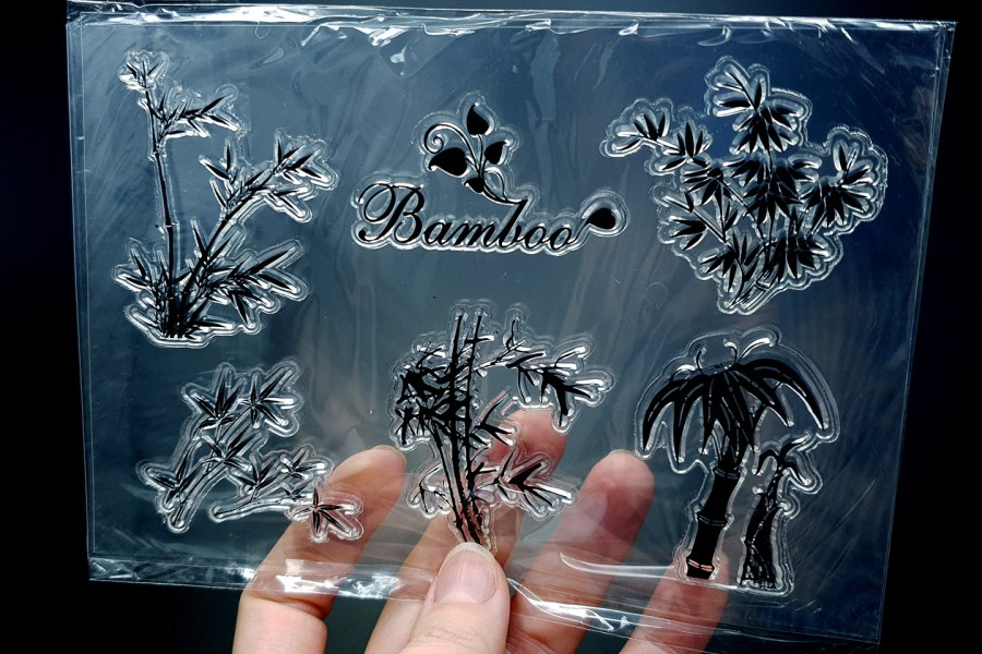 "Clear Silicone Stamp ""Bamboo"" 2"