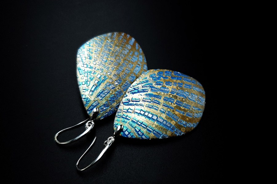 Large Frozen Petals Earrings 4