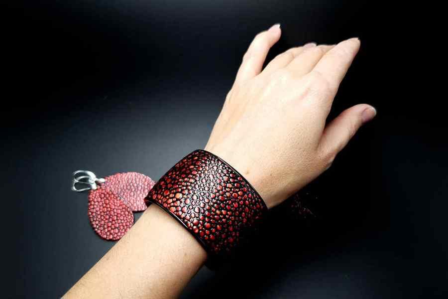 Jewelry Set Red Dragon Treasure Bracelet Ring Earrings 11