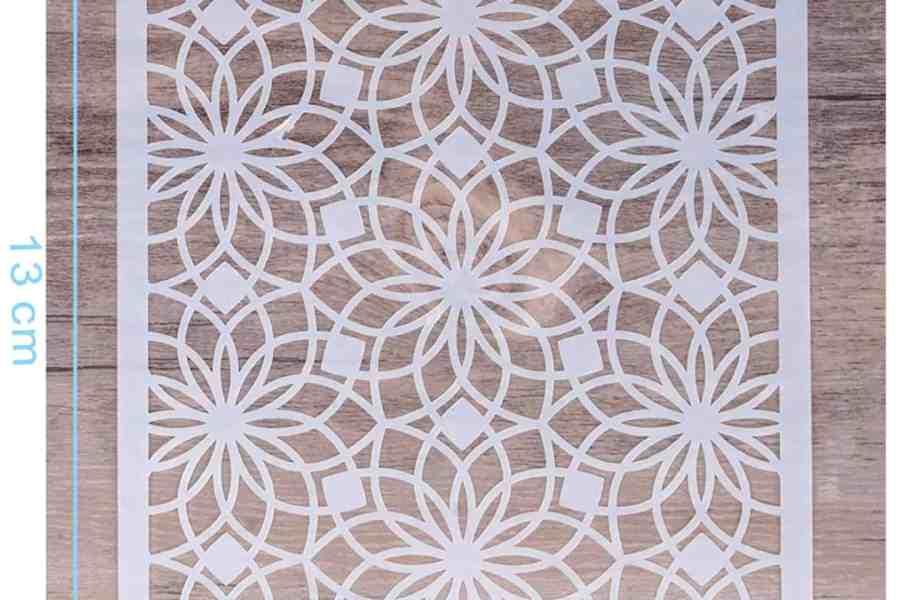 Morrocan Pattern Flowers 2 (13x13cm) 3