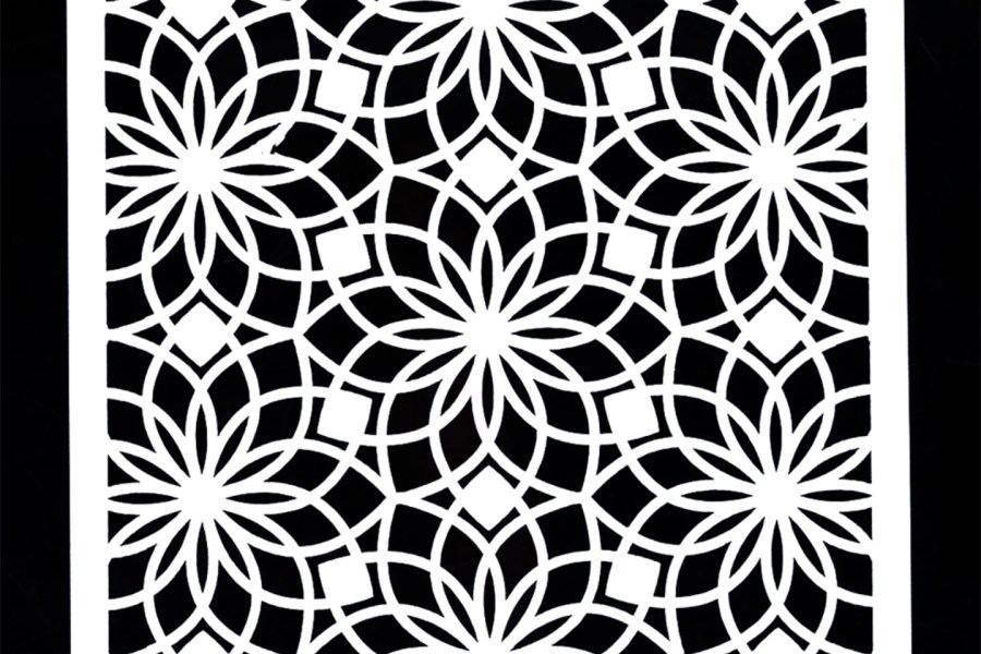 Morrocan Pattern Flowers 2 (13x13cm) 5