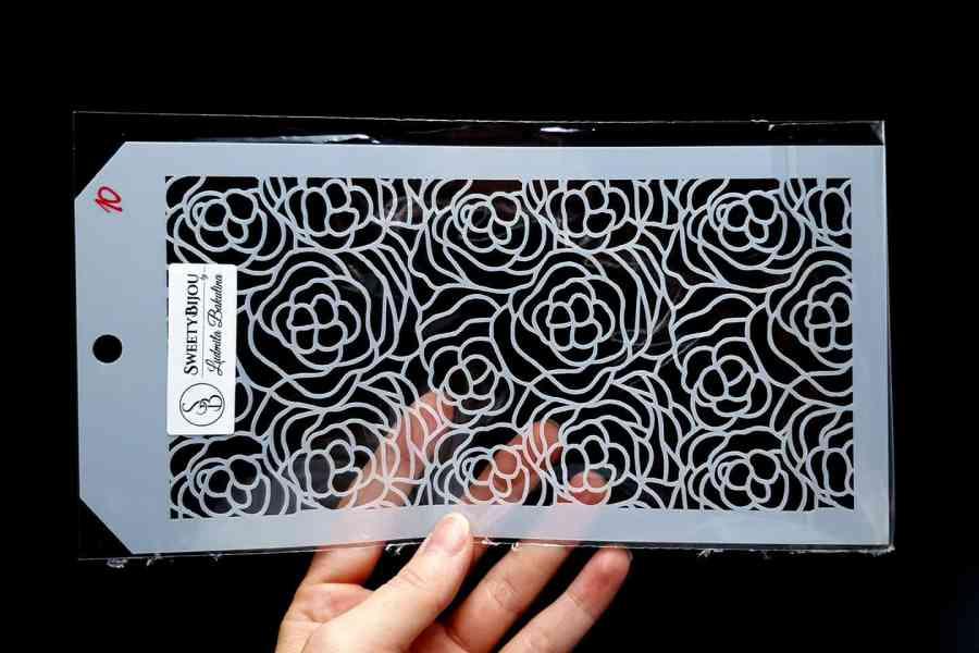 Roses Flowers Pattern (12x24cm) 2