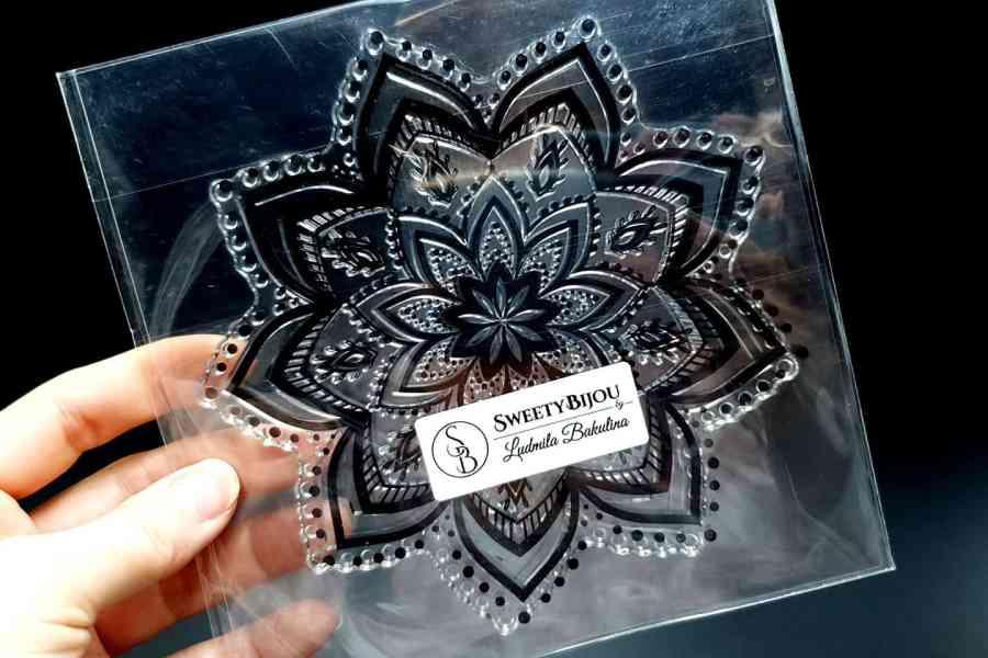 Mandala Snowflake Pattern 2 (14.5x14.5cm) 3