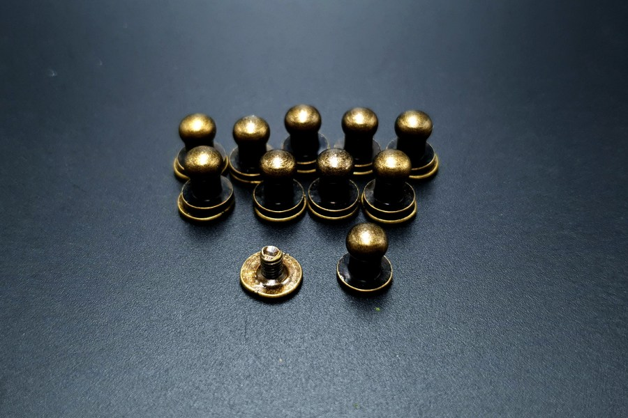Bronze Closers Screw Nail Rivet, 10pcs 1
