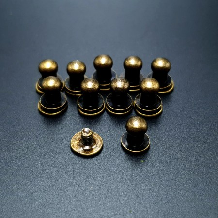 Bronze Closers Screw Nail Rivet, 10pcs