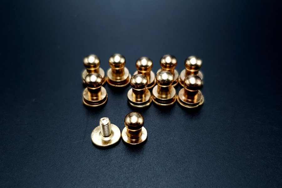 Gold Closers Screw Nail Rivet, 10pcs