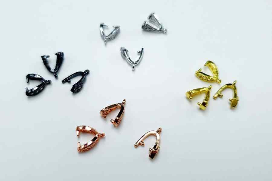 High Quality Necklace Pinch Clip Bail (set 12 pcs) 7